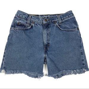 Levi's Vintage High Waisted Denim Cut Off Shorts
